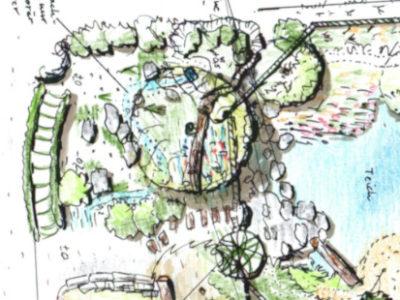 Baustelle 2020 – ein Teich soll kommen